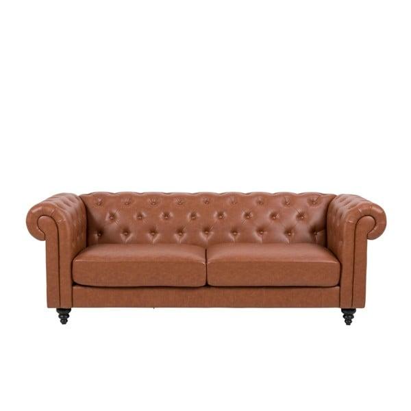 Brązowa 3-osobowa sofa Actona Charlietown