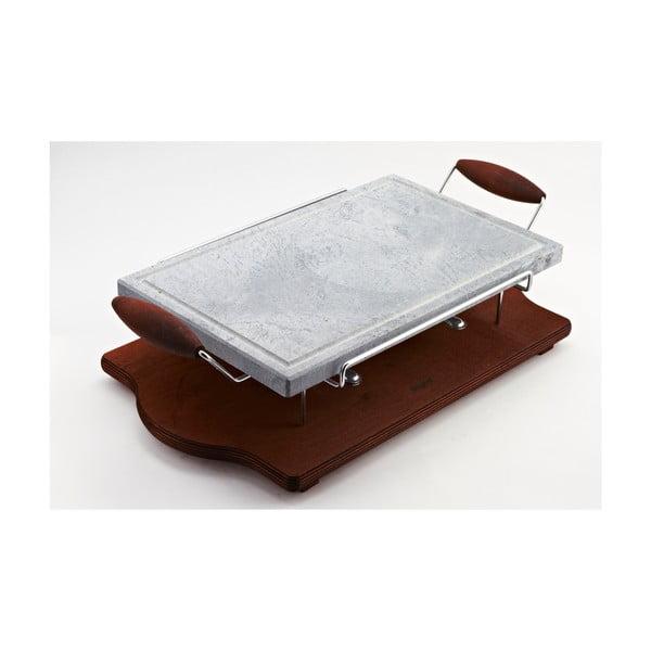Deska do opiekania na kamieniu Bisetti Stone Plate, 25x40 cm