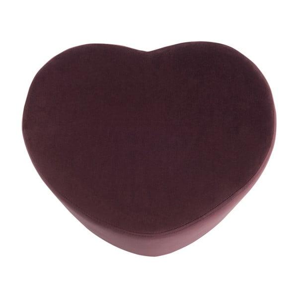 Bordowy puf w kształcie serca J-Line