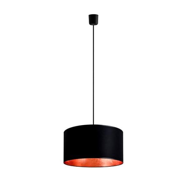 Lampa wisząca Tres, miedziano-czarna, średnica 36 cm