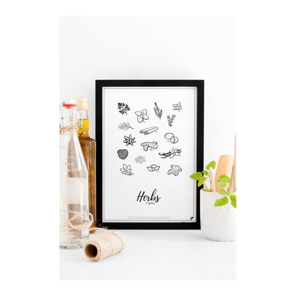 Plakat Follygraph Herbs & Spices, 30 x 40cm