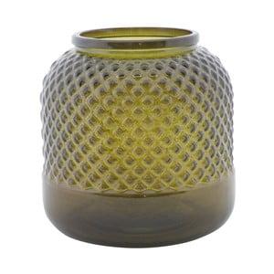 Zielony wazon ze szkła z recyklingu Mauro Ferretti Bolt, ⌀ 19 cm