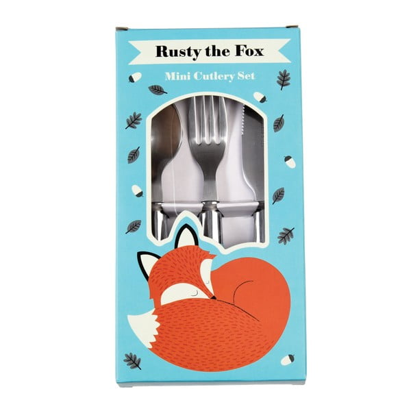 Zestaw sztućców dla dzieci Rex London Rusty The Fox