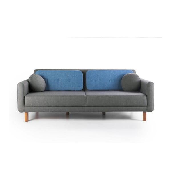 Rozkładana sofa Bubi Grey/Blue