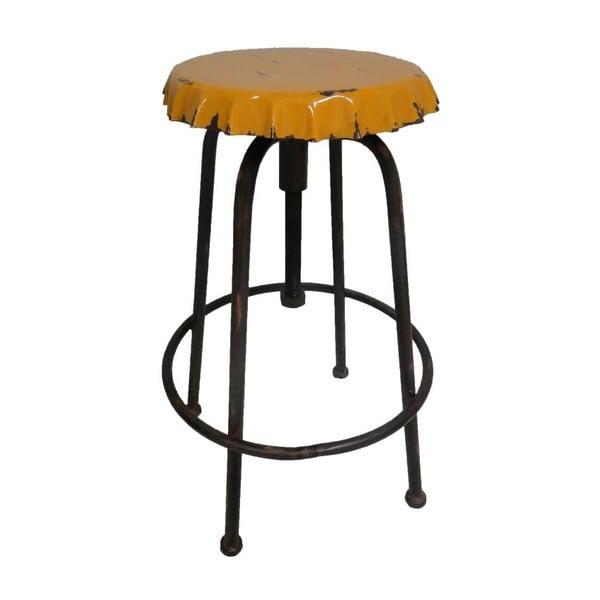 Metalowy stołek Capsule Jaune