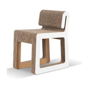 Kartonowe krzesło Hook White