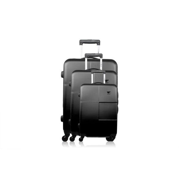 Zestaw 3 walizek Josephee, czarne