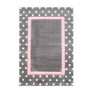 Różowo-szary dywan dziecięcy Happy Rugs Dots, 120x180 cm