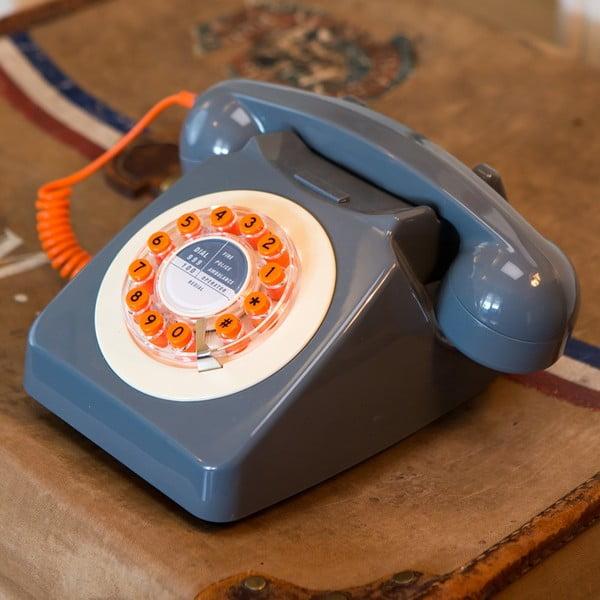 Telefon stacjonarny w stylu retro Serie 746 Mustard