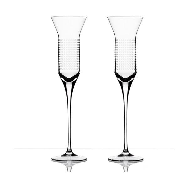 Komplet 2 kieliszków do szampana Dots - Olgoj Chorchoj, 150 ml