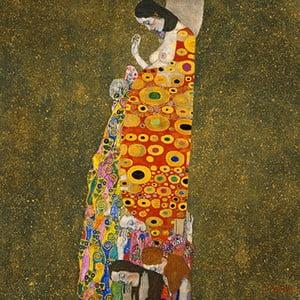 Reprodukcja obrazu Gustava Klimta - Hope II, 40x40 cm