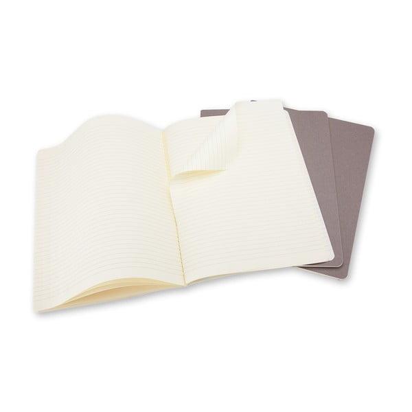 Zestaw 3 notesów Moleskine Cahier, 19x25 cm