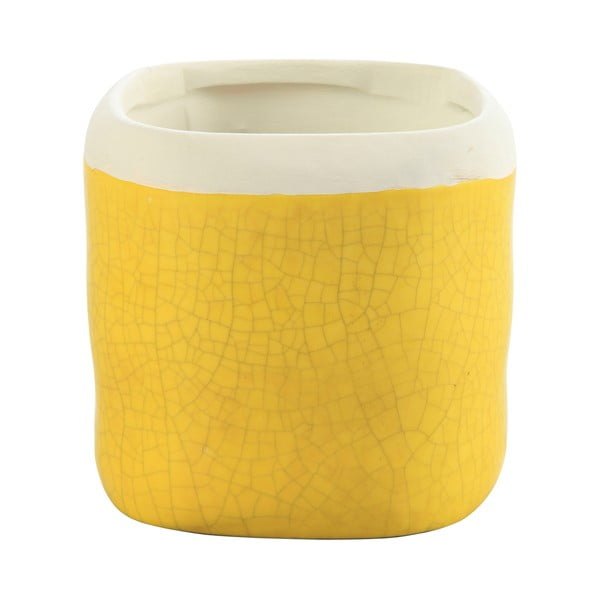 Doniczka Earth 15 cm, żółta