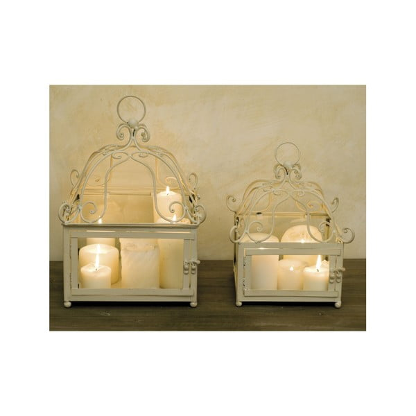 Zestaw 2 świeczników Lodge