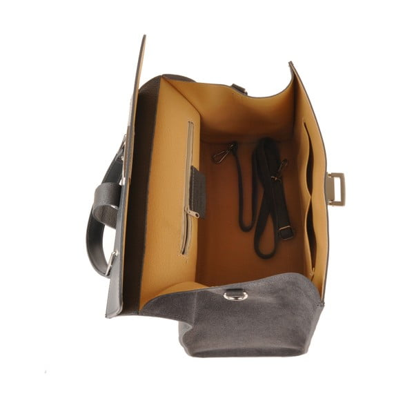 Skórzana torebka Pau, szara