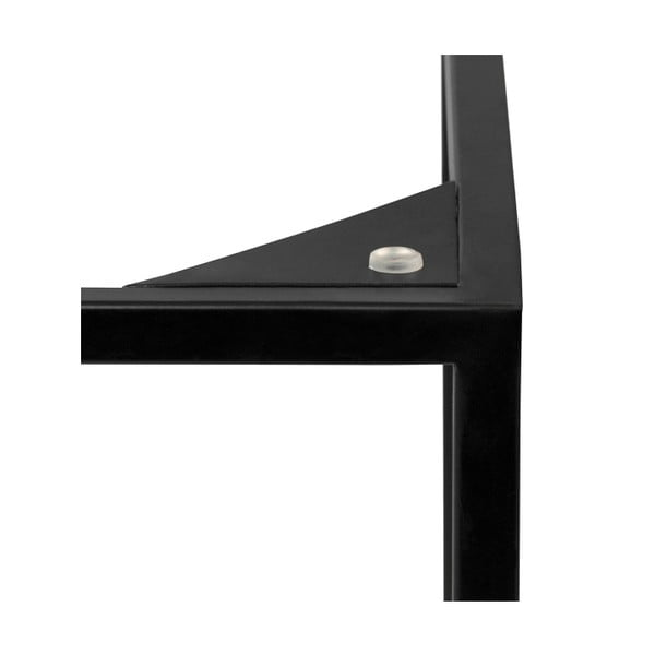 Biały stolik marmurowy z czarnymi nogami TemaHome Gleam, 50 cm