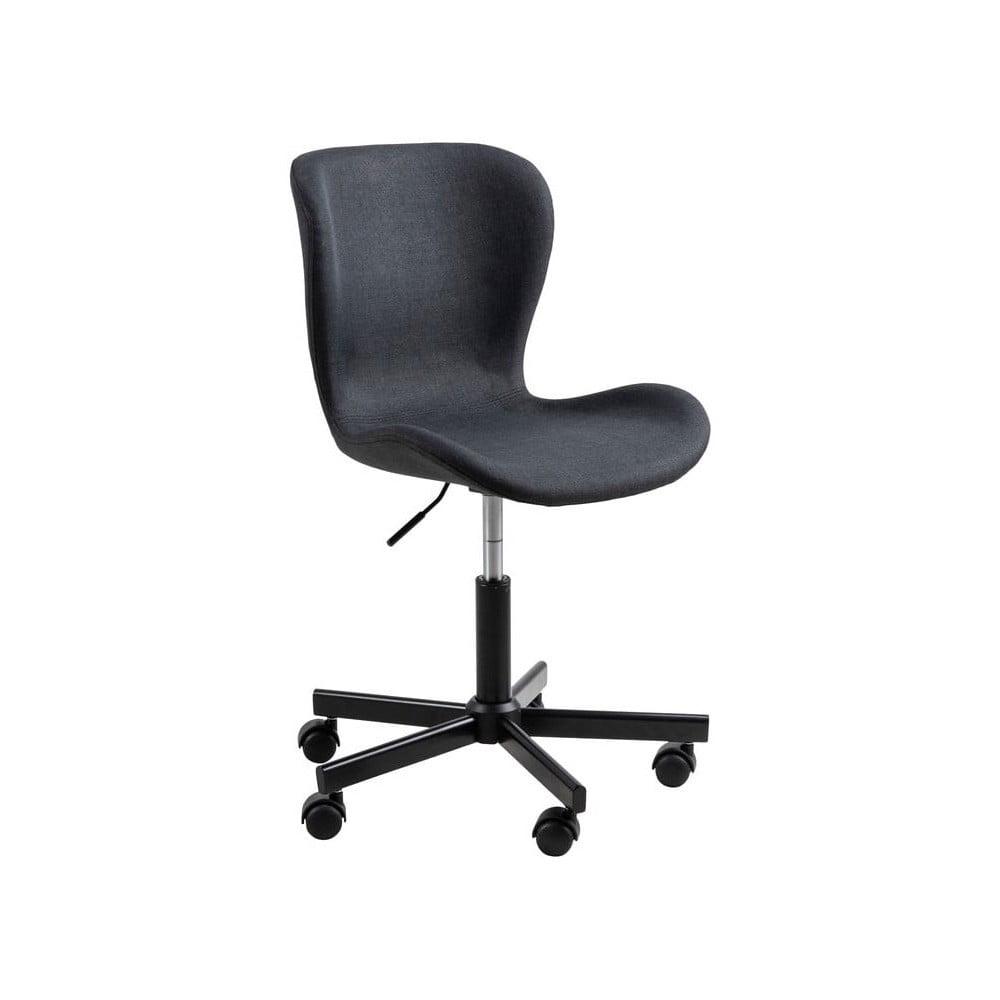 Czarne krzesło biurowe na kółkach Actona Batilda