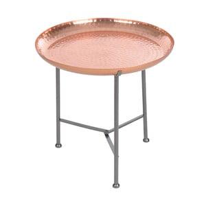 Stolik z tacą Copper Finish