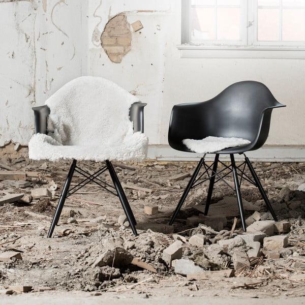 Skóra dekoracyjna z owcy nowozelandzkiej, na krzesło, Black