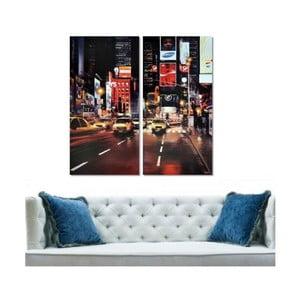 Dwuczęściowy obraz Street, 40x60 cm