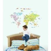 Zestaw naklejek Ambiance World Map for Children