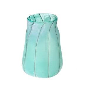 Niebieski wazon szklany Dino Bianchi Campania, wysokość32cm