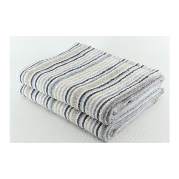 Zestaw 2 ręczników Collette Grey, 70x140 cm