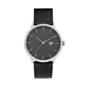 Zegarek z czarnym paskiem i czarnym cyferblatem CHPO Khorshid Vegan