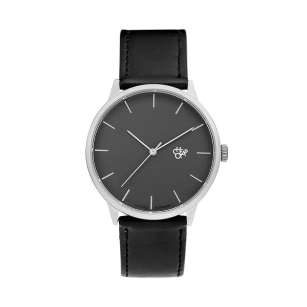 Zegarek z czarnym paskiem i czarną tarczą Cheapo Khorshid Vegan