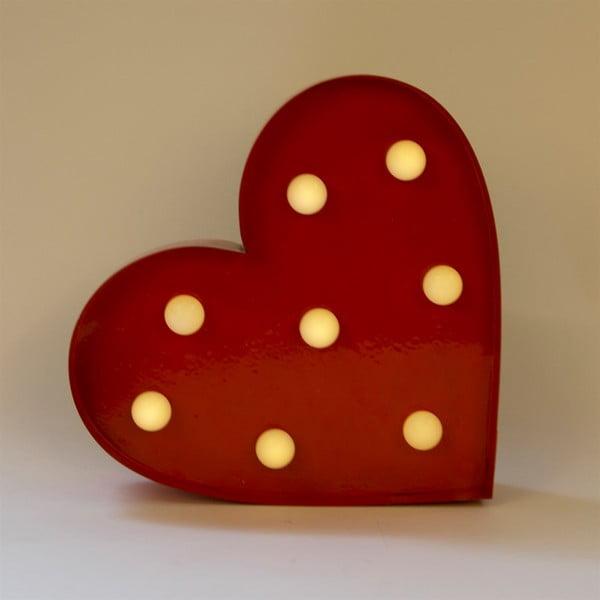 Czerwona dekoracja świetlna LED Sass & Belle Heart