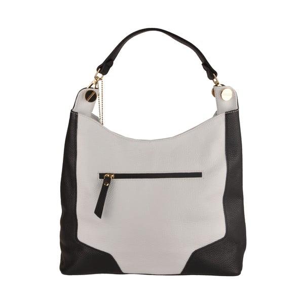 Skórzana torebka Emilio Masi Yala, czarno-biała