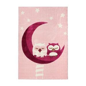 Dywan dziecięcy Happy Rugs Pink Owls, 120x180 cm