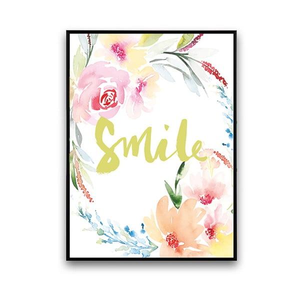 Plakat z kwiatami Smile, 30 x 40 cm