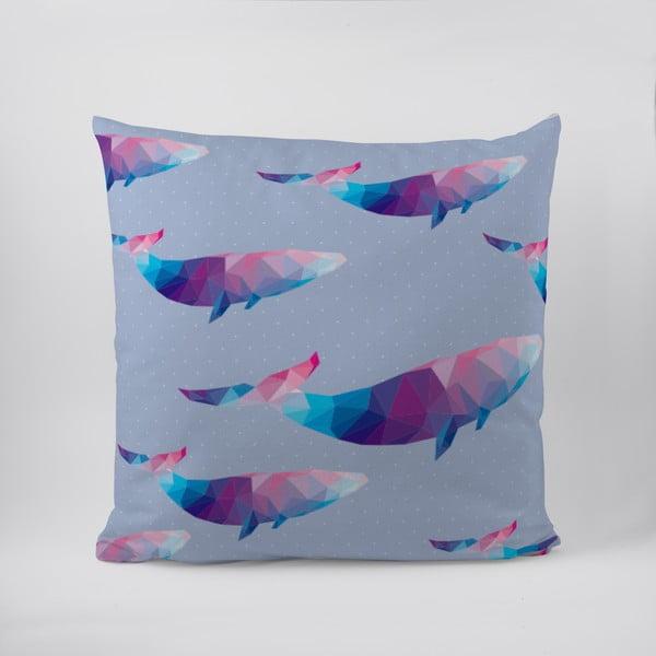 Poduszka Origami Whales