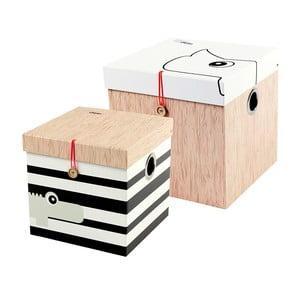 Zestaw 2 pudełek Deer, rozmiar L