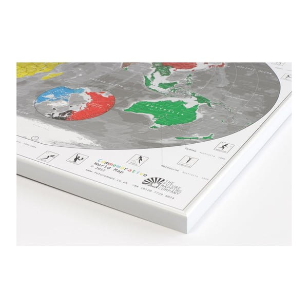 Szerokokątna mapa świata The Future Mapping Company Future Map 101x59 zm