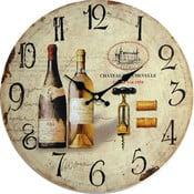 Zegar Wine, 34 cm