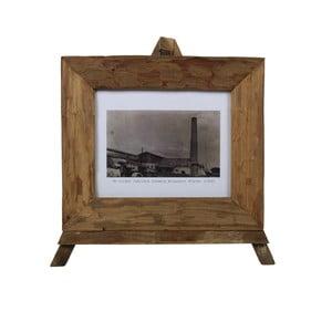 Ramka na zdjęcia z drewna tekowego HSM Collection Nesia, 43 x 36 cm