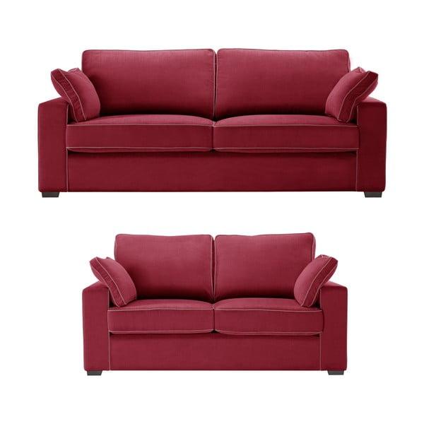 Dwuczęściowy komplet wypoczynkowy Jalouse Maison Serena, czerwony