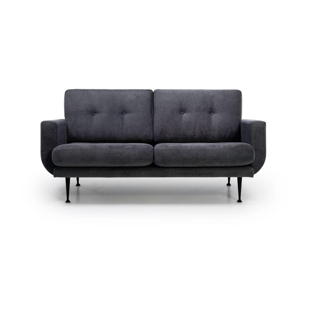 Antracytowa sofa 2-osobowa Softnord Fly Gentle