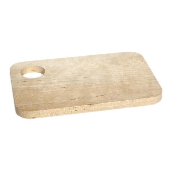 Drewniana deska ze stojakiem na jajko Iris Hantverk Sandwich