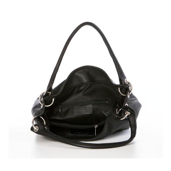 Skórzana torebka Dellio Black