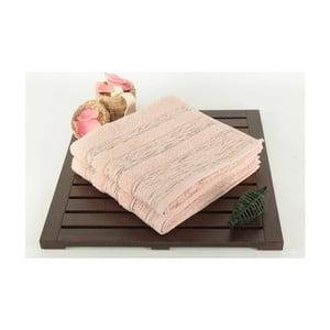 Zestaw 2 ręczników Cizgili Powder, 50x90 cm