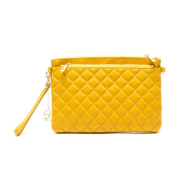 Skórzana torebka Flair, żółta