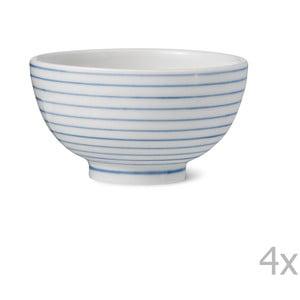 Zestaw 4 porcelanowych misek ręcznie robionych Anne Black Alais, wys. 4cm