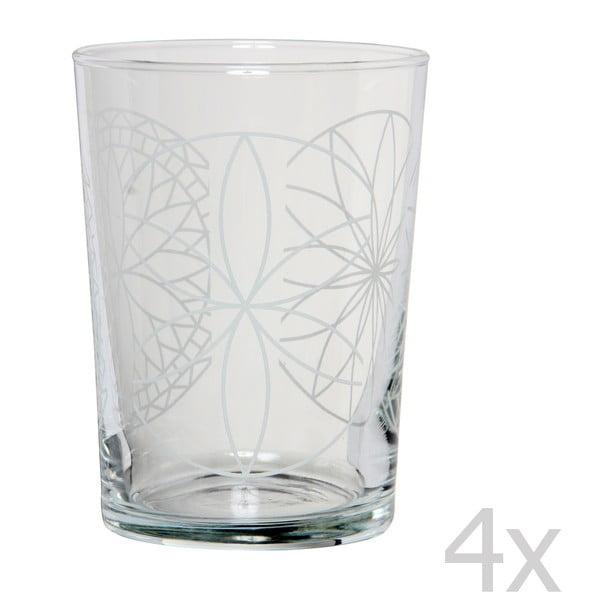 Zestaw 4 szklanek Rosace, 500 ml
