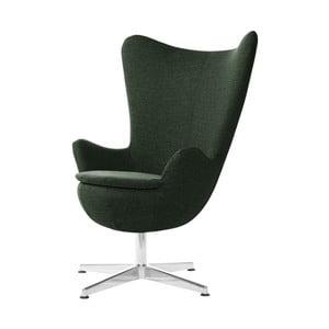 Ciemnozielony fotel obrotowy My Pop Design Indiana
