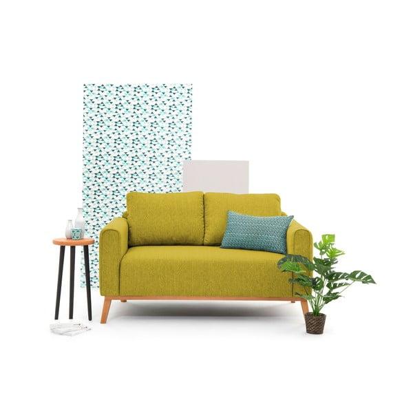 Limonkowa sofa dwuosobowa VIVONITA Milton