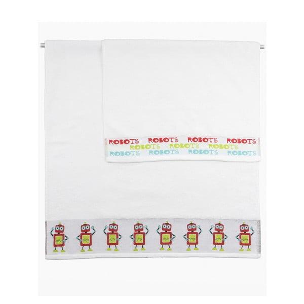 Zestaw 2 ręczników Robots, 50x100 cm i 70x140 cm