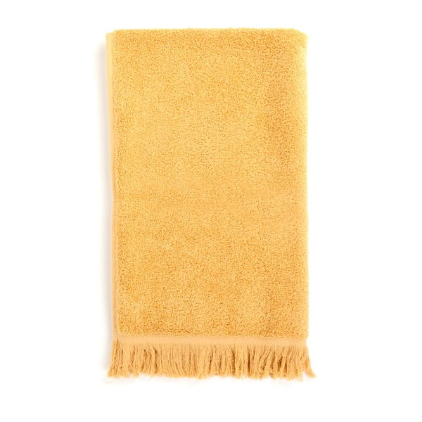 Komplet 2 żółtych ręczników kąpielowych z bawełny Casa Di Bassi Sun, 70x140 cm